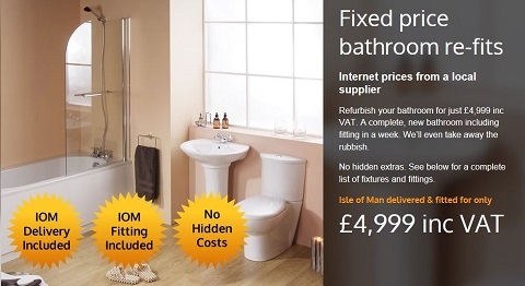 Show case image for Just BathroomsJust Bathrooms   Ramsey   Isle of Man. New Bathroom Fixed Price. Home Design Ideas